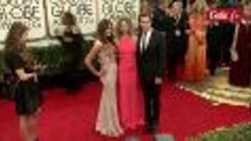 Vidéo- Tapis rouge color block au Golden Globes