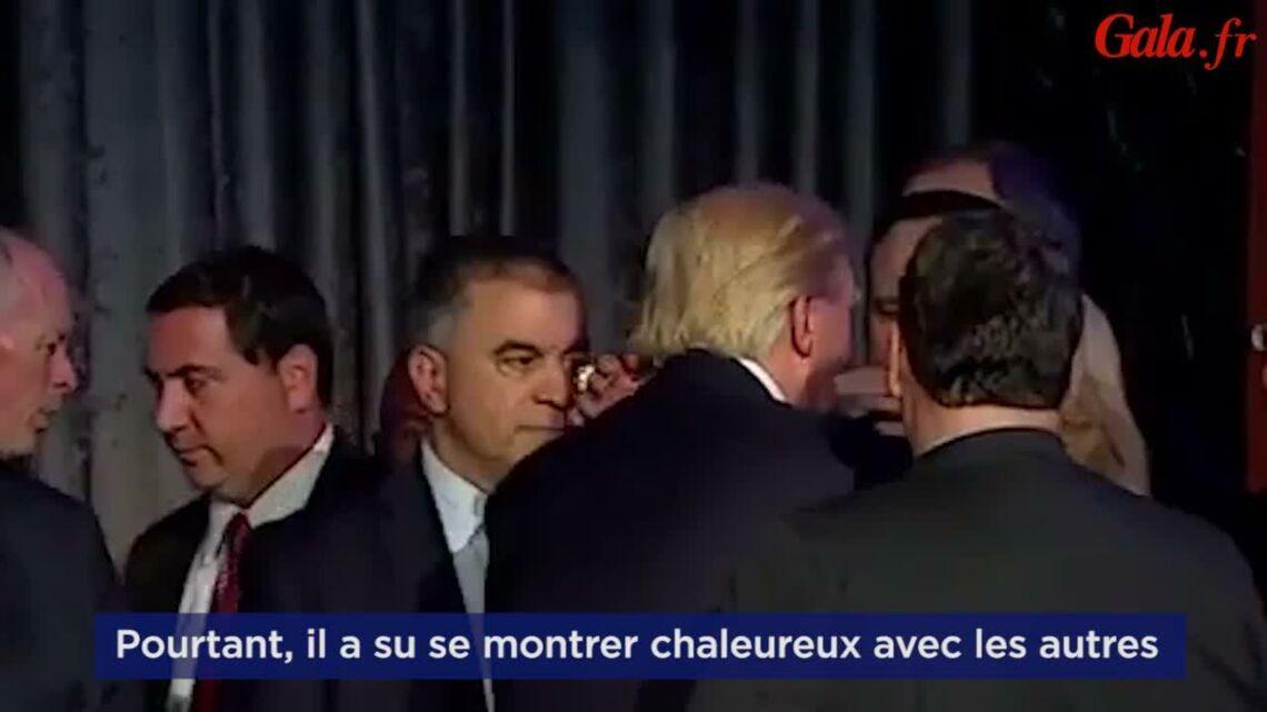 VIDEO- quand Donald Trump met un vent à sa femme Melania le soir de l'élection