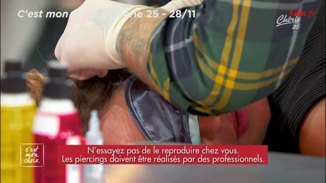 VIDEO – Evelyne Thomas se fait percer les oreilles en direct