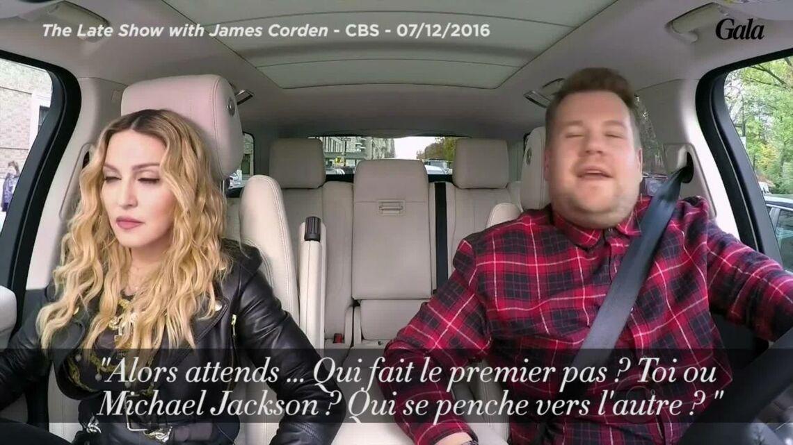 VIDEO – Madonna révèle avoir embrassé Michael Jackson puis twerke dans une voiture!