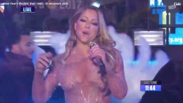 VIDEO – Mariah Carey : la diva rate complè­te­ment sa perfor­mance du Nouvel An à Times Square