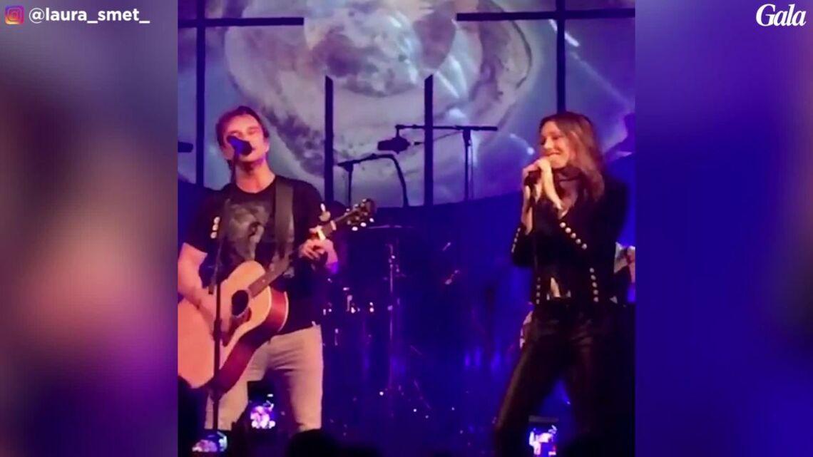VIDEO –David Hallyday de retour sur scène: revivez son duo avec Laura Smet