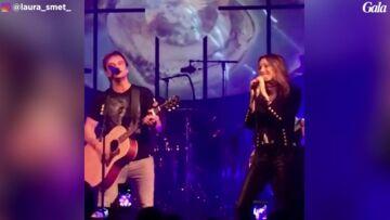 VIDEO – Laura Smet chante avec son frère David Hallyday, devant une Estelle très émue