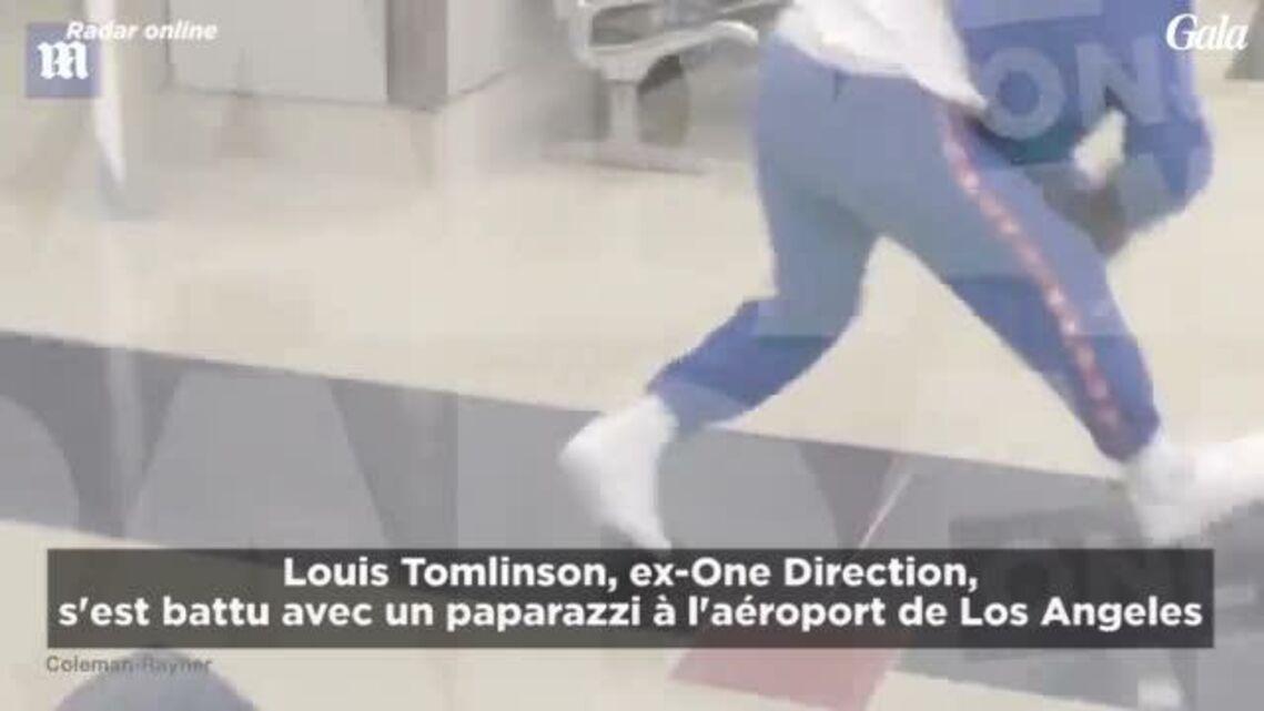 VIDEO- Louis Tomlinson arrêté par la police après une violente une bagarre à l'aéroport