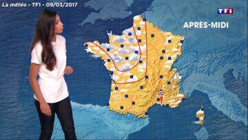 VIDEO- Tatiana Silva: très sage pour sa première météo sur TF1