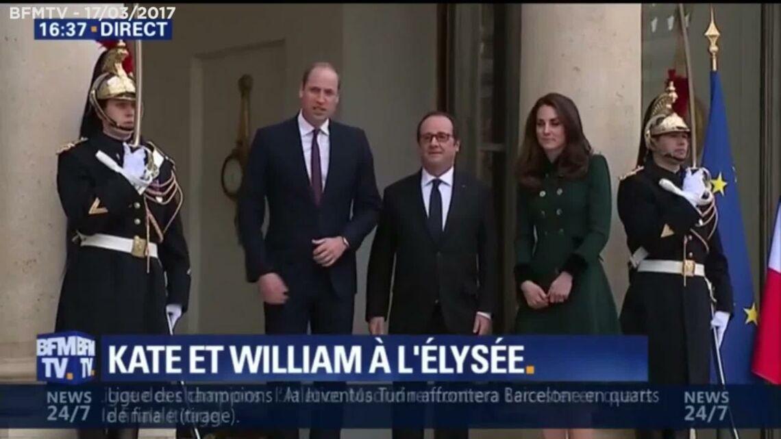 VIDEO – Kate et William à Paris: les premières images de leur arrivée à l'Élysée