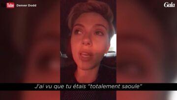 VIDEO- Scarlett Johansson s'est trouvée un sosie «totalement saoule»