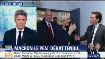 VIDEO: Quand Marine Le Pen rattrape son garde du corps en pleine chute