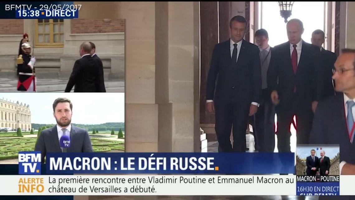 VIDEO – Qui est la femme en noir qui a accueilli Emmanuel Macron et Vladimir Poutine à Versailles?