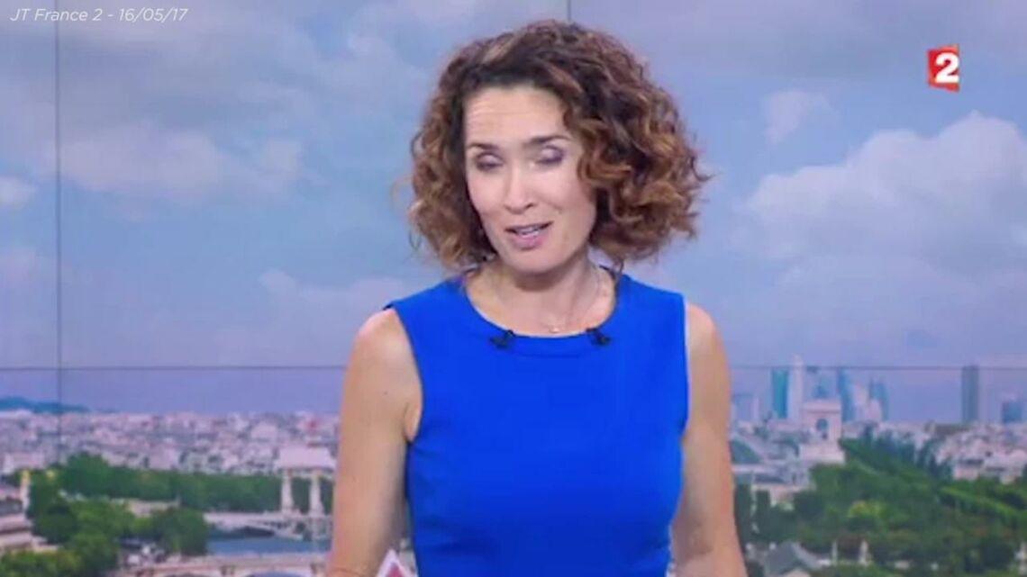 VIDEO – Très émue, Marie-Sophie Lacarrau, présentatrice du 13h de France 2, apporte son soutien à David Pujadas