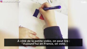 VIDEO – Carla Bruni Sarkozy a voté… et Giulia a mis la main à la pâte