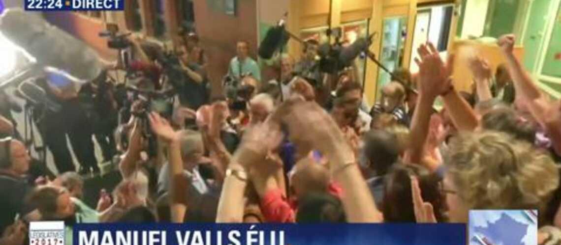 VIDEO – Manuel Valls chahuté: un homme évacué manu militari