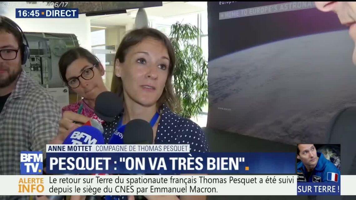 VIDEO – Thomas Pesquet: Les premiers mots de sa compagne Anne Mottet après son retour