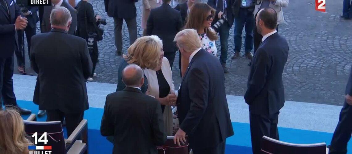 VIDEO – Line Renaud: Quand l'amie de Brigitte Macron rencontre Donald Trump