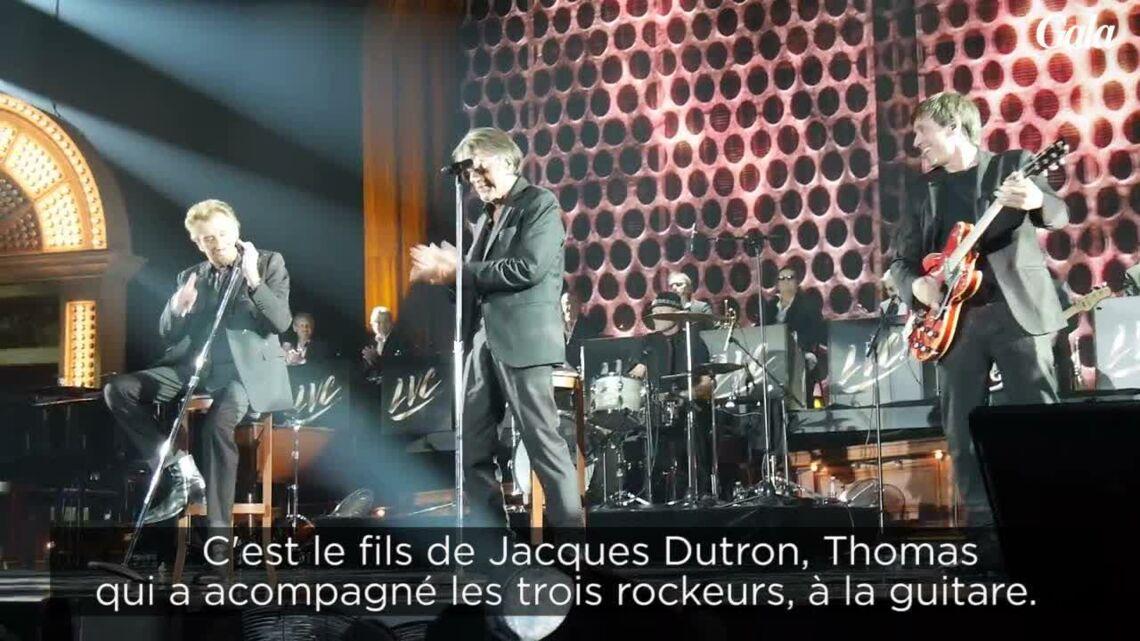 VIDEO – Les «Vieilles Canailles»: Thomas Dutronc ému aux larmes rejoint son père Jacques Dutronc sur scène