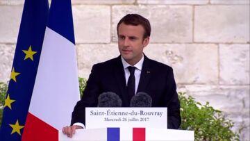 VIDEO – Moment d'émotion: le touchant hommage d'Emmanuel Macron au père Jacques Hamel