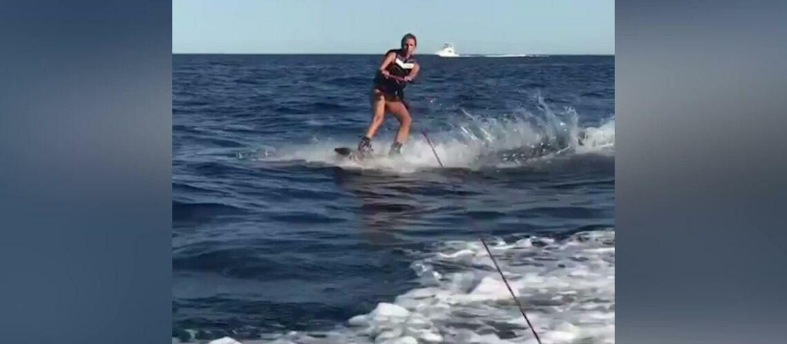 VIDEO –Sylvie Tellier s'éclate en wakeboard sur l'île de son mariage