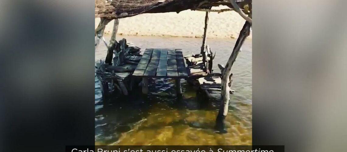 VIDEO – Carla Bruni en vacances en Corse, la chanteuse partage les images de son paradis