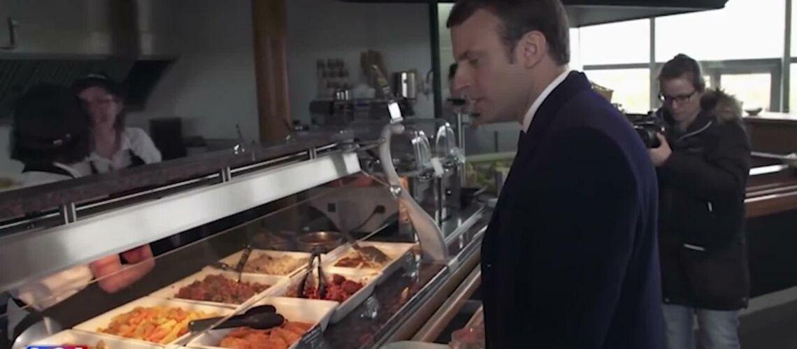 VIDEO – Passion cordon bleu: Emmanuel Macron adore manger à la cantine