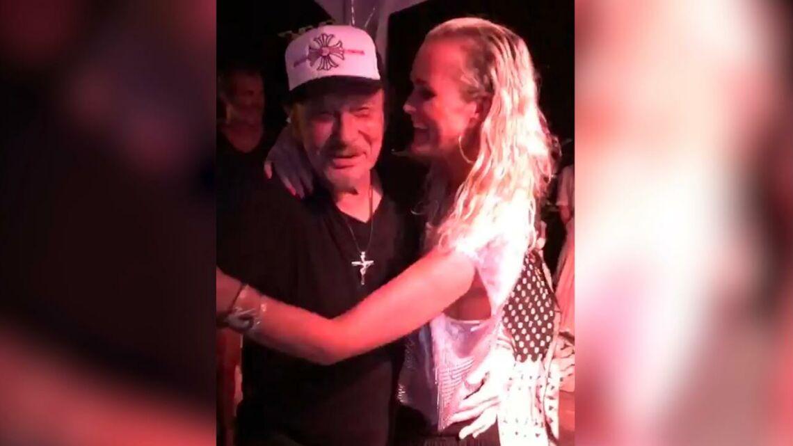 VIDEO – Johnny Hallyday: en vacances à St Barth, Johnny Hallyday danse sur Despacito avec Laeticia, un beau moment pour les 13 ans de Jade