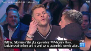 VIDEO – Matthieu Delormeau de retour dans TPMP, les chroniqueurs ne le ménagent pas