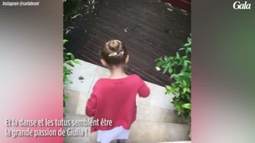 VIDEO – Giulia Sarkozy, la fille de Carla Bruni adorable en plein numéro de danse