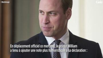 VIDEO- L'étonnante réaction du prince William aux fiançailles de son frère