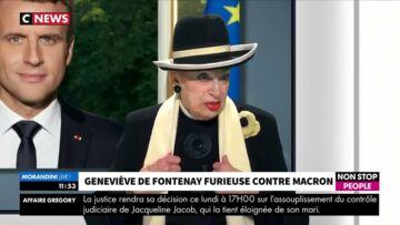 """VIDEO – Geneviève de Fontenay tacle (encore) Emmanuel Macron: """"Il a un ego surdimensionné"""""""