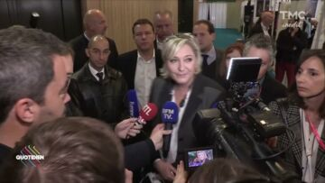 VIDEO – Marine Le Pen évite volon­tai­re­ment les jour­na­listes de Quoti­dien : « Ils me saoulent »