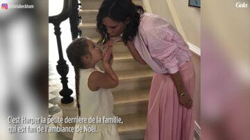 VIDEO – La fille de David et Victoria Beckham, Harper, a déjà très hâte d'être à Noël