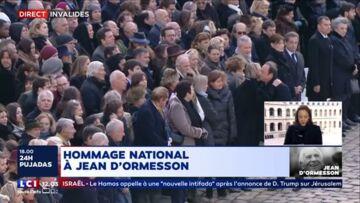 VIDEO – Quand François Hollande snobe Nicolas Sarkozy aux obsèques nationales de Jean d'Ormesson