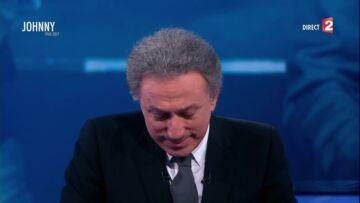 VIDEO-Les larmes de Michel Drucker en disant adieu à Johnny Hallyday