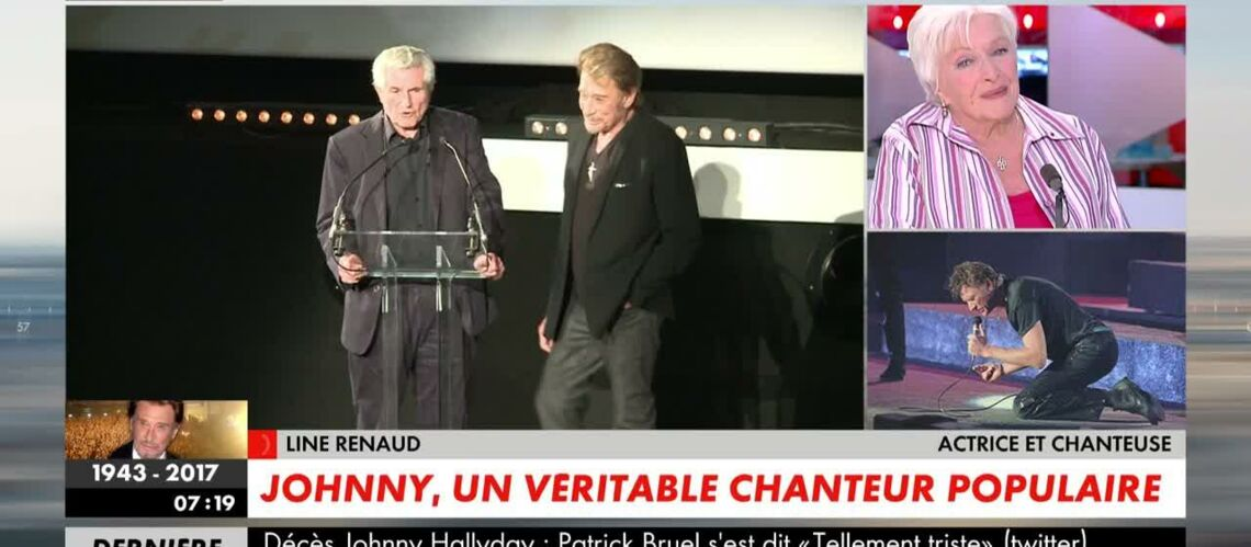 VIDEO – Line Renaud, très émue, réagit à la dispa­ri­tion de Johnny Hally­day