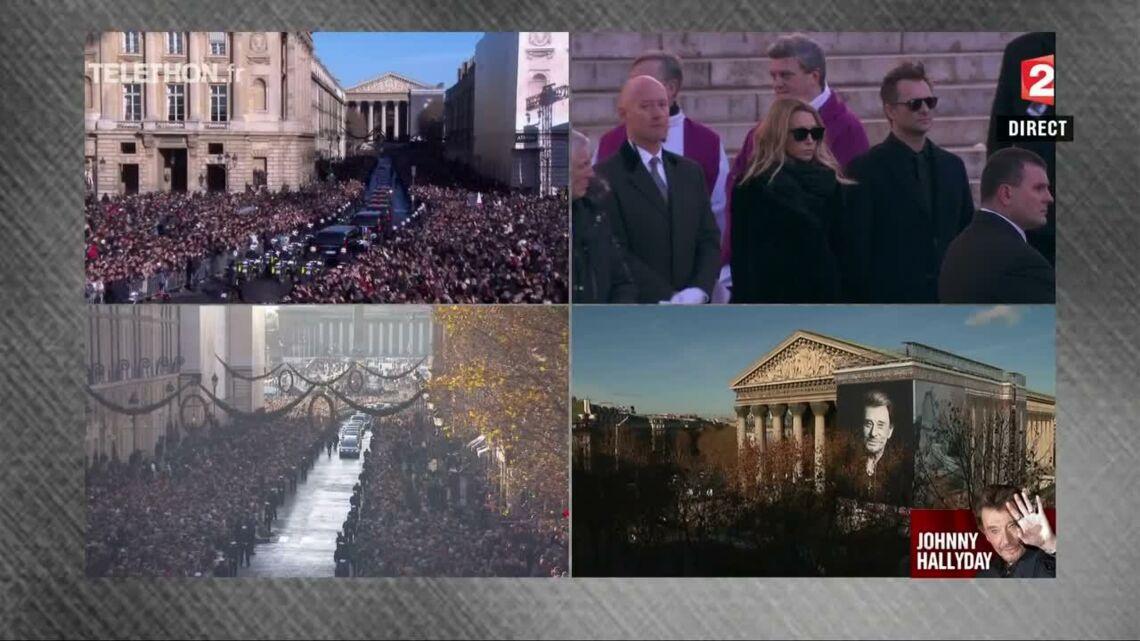 VIDEO – Hommage à Johnny Hallyday: Ses enfants David Hallyday et Laura Smet sur le parvis de la Madeleine, leur adieu à leur père