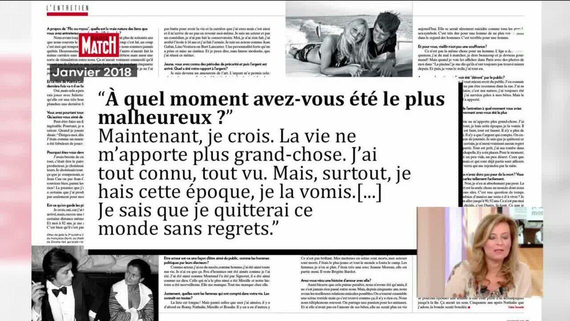VIDEO – Alain Delon a «envie de vivre une dernière histoire d'amour» selon Valérie Trierweiler