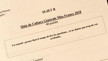 Le test de culture générale: la bête noire des Miss!