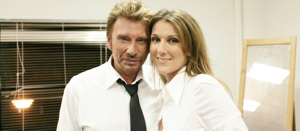 Johnny Hally­day : le message boule­ver­sant de Céline Dion