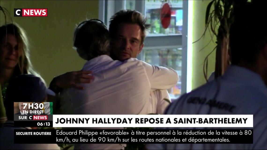 VIDEO – Laeticia Hallyday en larmes, David très ému: le récit de la soirée des obsèques de Johnny Hallyday