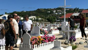 Les habi­tants de Saint-Barthé­lémy ont veillé Johnny Hally­day