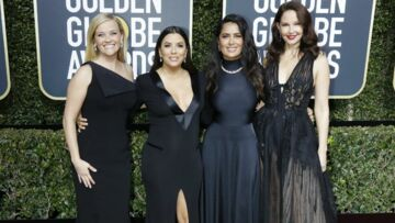 PHOTOS – Golden Globes: Eva Longoria, Emma Watson, Meryl Streep, pourquoi elles portaient toutes une robe noire?