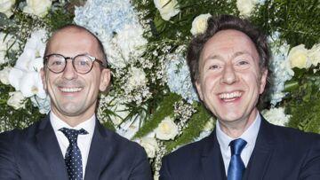 PHOTOS – Stéphane Bern et son compagnon Lionel Bounoua, ensemble pour le dîner du Sidaction