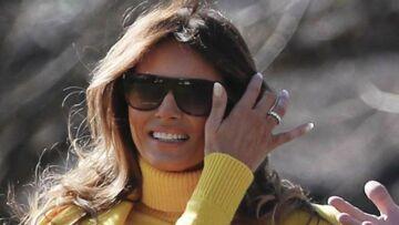 PHOTOS – Melania Trump, jupe en cuir et escarpins léopard: l'épouse de Donald Trump de retour sur le devant de la scène