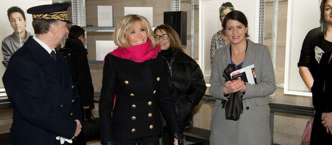 PHOTOS – Brigitte Macron ultra chic: découvrez le prix de son châle rose Louis Vuitton