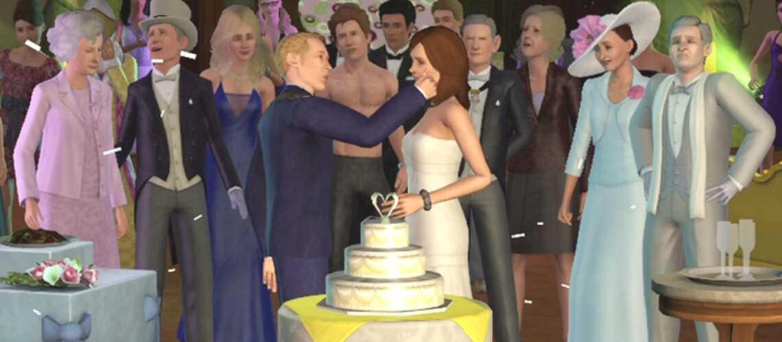 Exclu vidéo- Kate et William à la noce chez les Sims