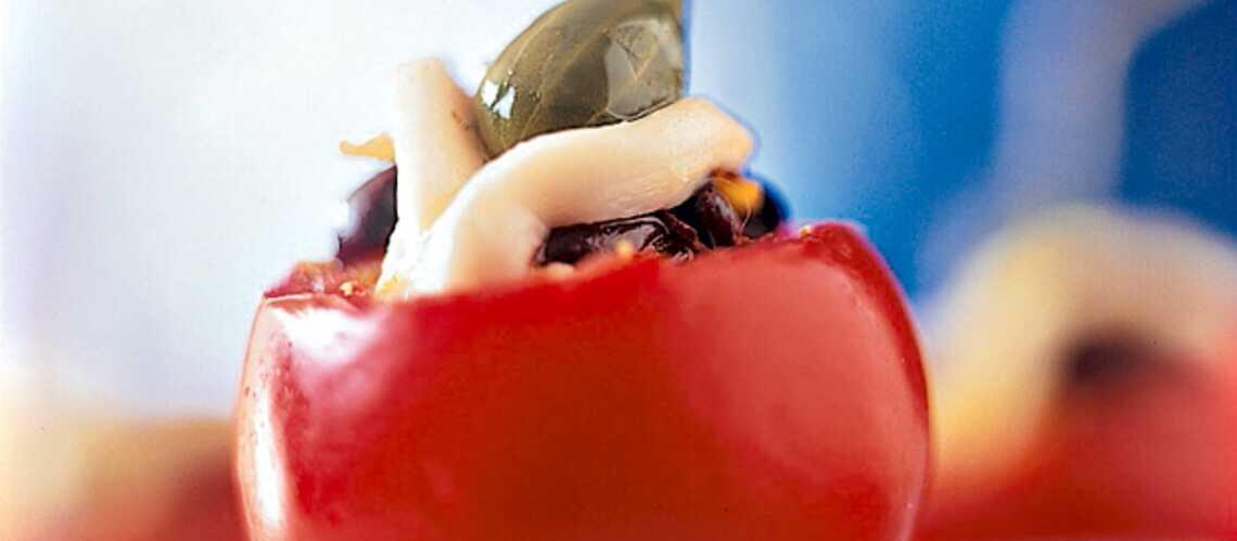 Tomates farcies à la raie