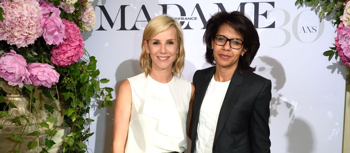 gala by night laurence ferrari et audrey pulvar f tent les 30 ans de air france madame gala. Black Bedroom Furniture Sets. Home Design Ideas