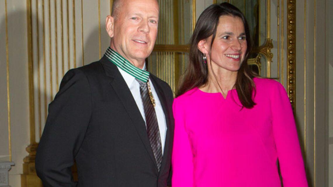 Vidéo- Bruce Willis, belle journée pour être médaillé
