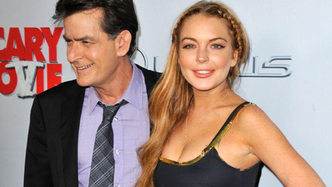 Vidéo- Lindsay Lohan et Charlie Sheen, happy losers sur red carpet