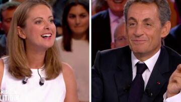 VIDEO – Charline Vanhoenacker se moque de Nicolas Sarkozy en direct sur France 2