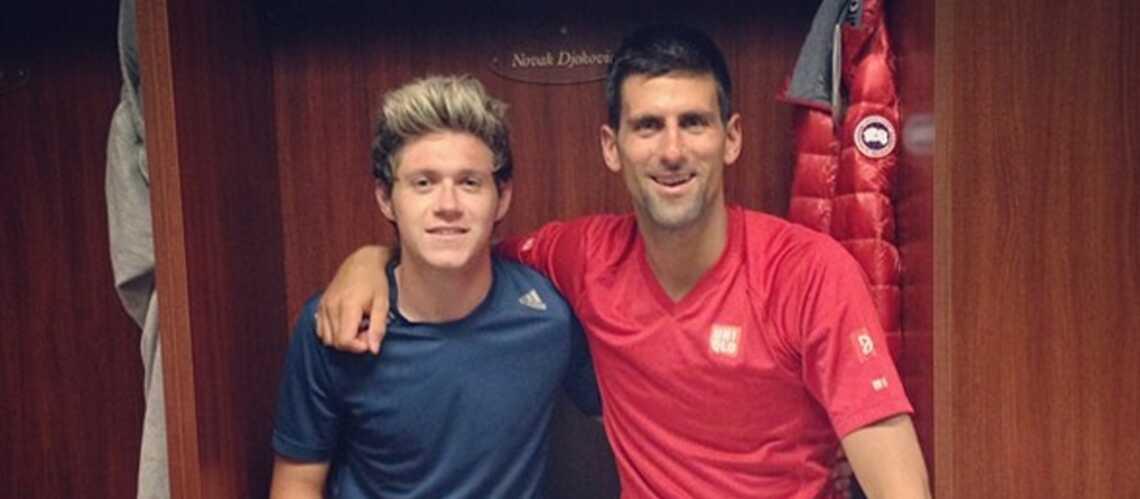 Novak Djokovic s'entraîne avec l'un des One Direction